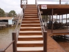 Waterproof Aluminum Decking on Fixed Dock Stairs